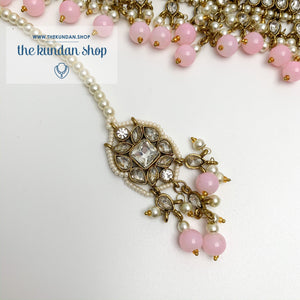 Over The Moon - Baby Pink, Necklace Sets - THE KUNDAN SHOP