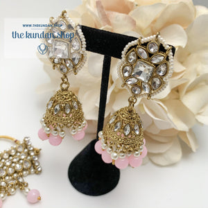 Over The Moon - Baby Pink Necklace Sets THE KUNDAN SHOP
