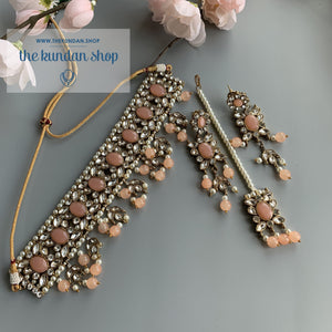Drops of Pink, Necklace Sets - THE KUNDAN SHOP