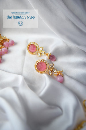 Pastel Estate in Pink Necklace Sets THE KUNDAN SHOP
