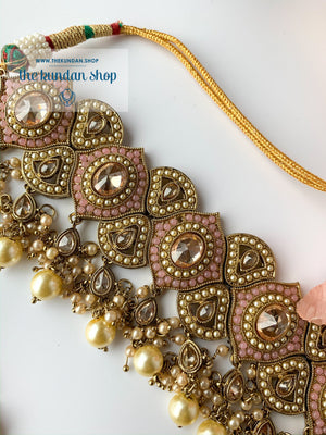 Entangled in Pink, Necklace Sets - THE KUNDAN SHOP