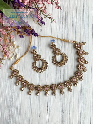 A Love of Polki in Pink Necklace Sets THE KUNDAN SHOP