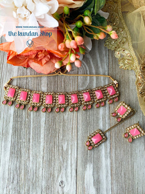 About Last Night - Pink, Necklace Sets - THE KUNDAN SHOP