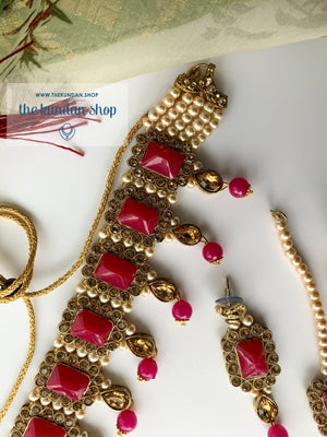 Loyals in Dark Pink, Necklace Sets - THE KUNDAN SHOP