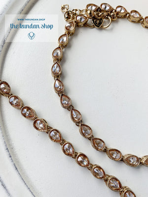 Basic Polki Anklets, Anklets - THE KUNDAN SHOP