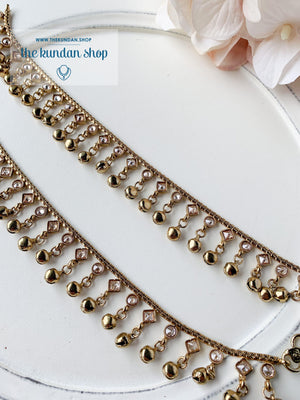 Single Chain Polki Beauty - Anklets, Anklets - THE KUNDAN SHOP