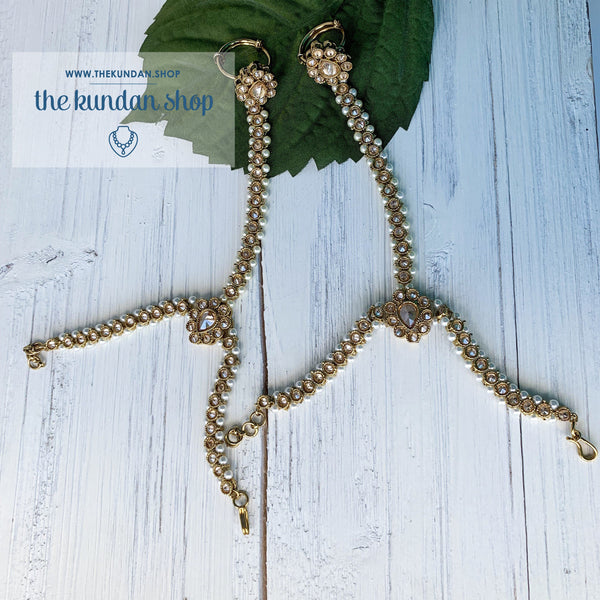 Simple Polki Hand Harness