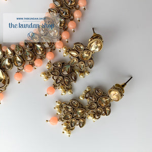 Polki Army - Peach, Necklace Sets - THE KUNDAN SHOP