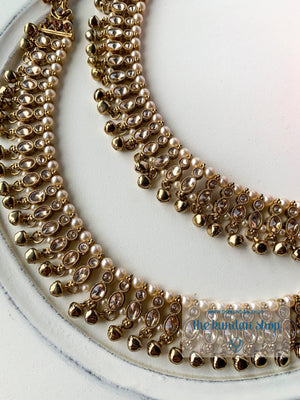 Classic Polki Anklets Anklets THE KUNDAN SHOP