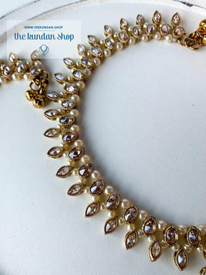 Sweet Fantasy Polki Anklets, Anklets - THE KUNDAN SHOP