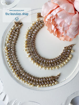 Steer Clear Pearl Anklets, Anklets - THE KUNDAN SHOP