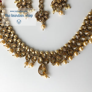 Polki Army - Pearl, Necklace Sets - THE KUNDAN SHOP