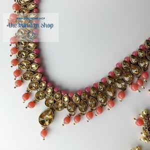 Polki Army - Pink, Necklace Sets - THE KUNDAN SHOP