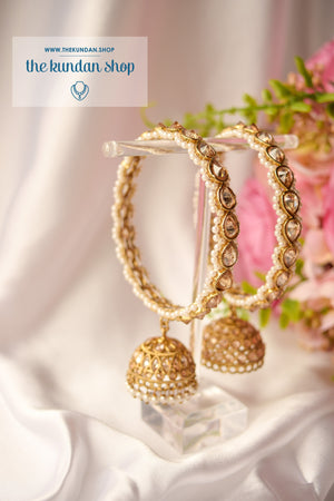 Single Jhumki Polki Bangle Bangles THE KUNDAN SHOP
