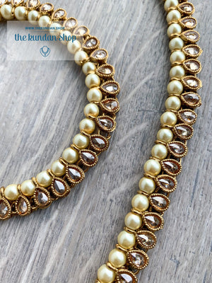 Payals in Polki & Single Pearl Anklets THE KUNDAN SHOP