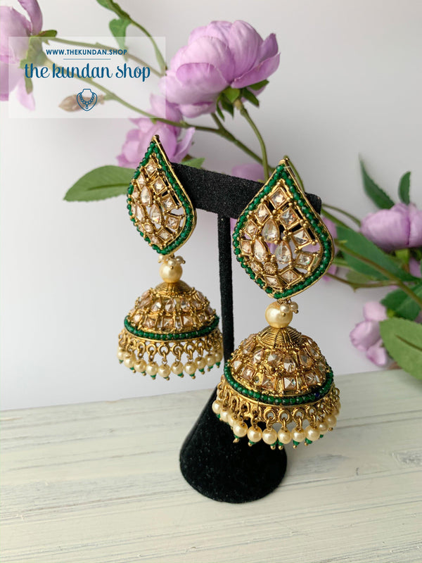 Ace of Spades Jhumkis (various colors), Earrings - THE KUNDAN SHOP