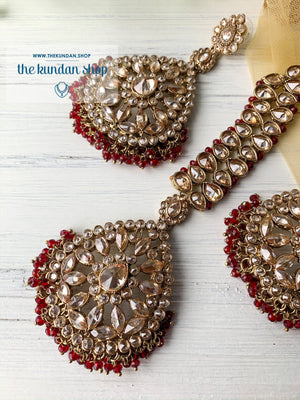 Infinite Love (various colors), Earrings + Tikka - THE KUNDAN SHOP