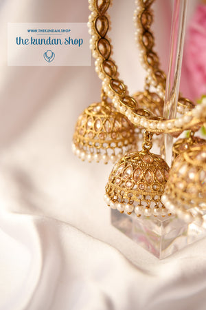 Triple Jhumki Polki Bangle Bangles THE KUNDAN SHOP