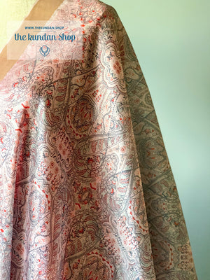 Illustrate in Beige, Dupatta - THE KUNDAN SHOP