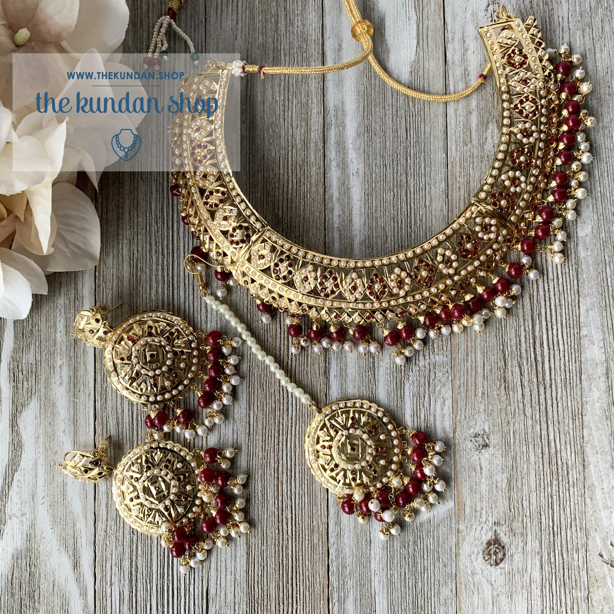 Sangeet Night - Ruby, Necklace Sets - THE KUNDAN SHOP
