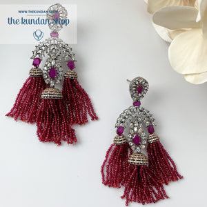 Modern Days - Ruby, Earrings - THE KUNDAN SHOP
