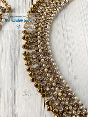 Statement Rhinestone Anklets, Anklets - THE KUNDAN SHOP