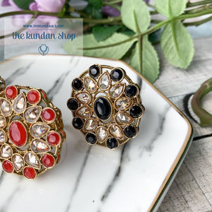 Round Pattern  - Polki Ring, Ring - THE KUNDAN SHOP