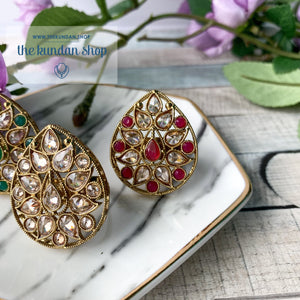 Rain Polki Ring, Ring - THE KUNDAN SHOP