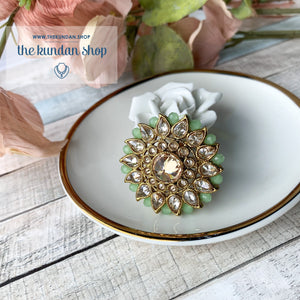 Out of Town - Polki Ring Ring THE KUNDAN SHOP Mint