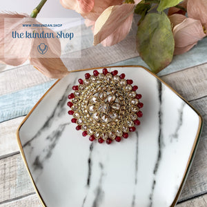 Cocktail Hour - Oversize Ring Ring THE KUNDAN SHOP Ruby