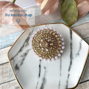 Cocktail Hour - Oversize Ring Ring THE KUNDAN SHOP Light Pink