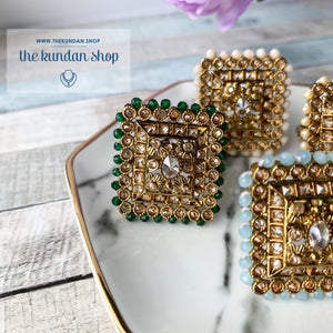 Square Ring, Ring - THE KUNDAN SHOP