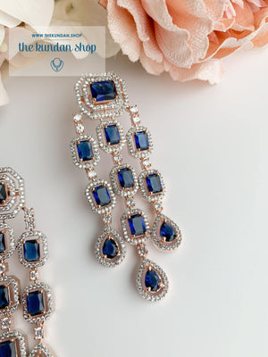A Modern Twist in Rose Gold Earrings THE KUNDAN SHOP