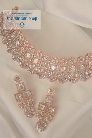 Evolve in Rose Gold Necklace Sets THE KUNDAN SHOP