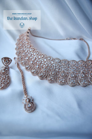 Sweet Talk in Rose Gold Necklace Sets THE KUNDAN SHOP