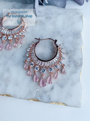 The Dainty Waali in Rose Gold Earrings THE KUNDAN SHOP Light Pink
