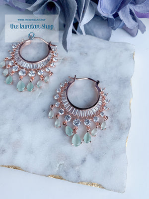 The Dainty Waali in Rose Gold Earrings THE KUNDAN SHOP Mint