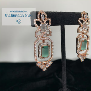 Luminous in Rose Gold, Earrings - THE KUNDAN SHOP