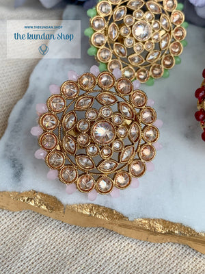 Round Petals Ring Ring THE KUNDAN SHOP Light Pink