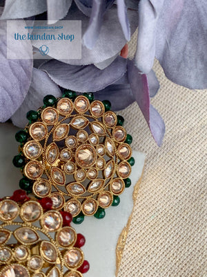 Round Petals Ring Ring THE KUNDAN SHOP Green