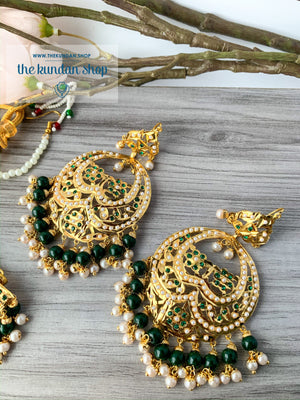 Promised Ones in Green, Necklace Sets - THE KUNDAN SHOP
