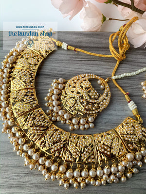 Promised Ones in Pearl, Necklace Sets - THE KUNDAN SHOP