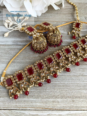 Valiant in Ruby Necklace Sets THE KUNDAN SHOP