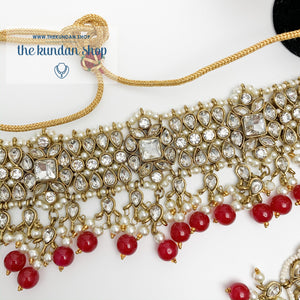 Over The Moon - Ruby/Red Necklace Sets THE KUNDAN SHOP