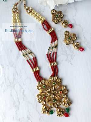 The Statement Floral Pendant, Necklace Sets - THE KUNDAN SHOP