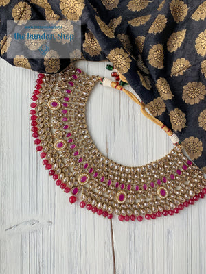 Catered in Ruby Necklace Sets THE KUNDAN SHOP