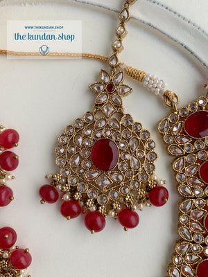Spontaneous in Ruby Necklace Sets THE KUNDAN SHOP
