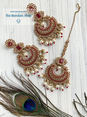 Endearing Polki in Ruby THE KUNDAN SHOP