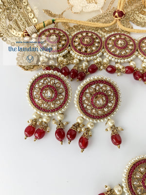 Spirited in Ruby Necklace Sets THE KUNDAN SHOP