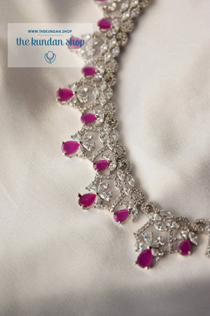 Angelic in Silver & Ruby Necklace Sets THE KUNDAN SHOP